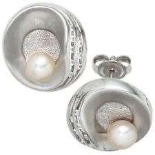 Perlen-Ohrschmuck im Ohrstecker-Stil aus Sterlingsilber mit echten ohne Stein