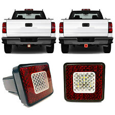 """Universal LED Tow Hitch Driving & Brake Lamp Reverse Light Fits 2"""" for Truck SUV"""