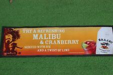 """ MALIBU & CRANBERRY RUM "" TOVAGLIETTA VINTAGE DA PUB L. cm 59 / BEER MAT"