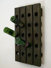 Riddling Wine Rack Handmade Wall Hanging Ebony