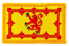 FLAG PATCH PATCHES SCOTLAND SCOTTISH LION IRON ON COUNTRY EMBROIDERED WORLD FLAG
