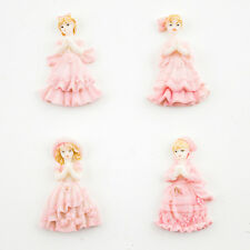 24 pc Polyresin Sweet 16 Pink Miniature Doll Figurines Quinceanera Party Favors