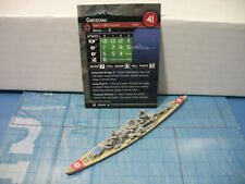 Axis & Allies War at Sea Condition Zebra Gneisenau 25/40