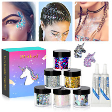 Body Glitter by iMethod 6 Jars Face Glitter including Fine Chunky Festival Makeu