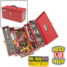 Clarke Cantilever Tool Box Complete With 199 Tools DIY Tool Kit & Padlock
