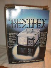 """Vintage 1986 Bentley Tv Model 100C 5"""" B&W Tv"""
