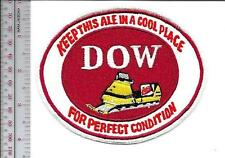 Snowmobile Beer Dow Brewery ''Keep this Ale in a Cool Place'' 1960 Promo Patch