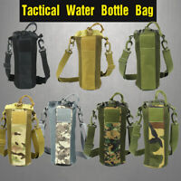 Tactical Water Bottle Bag Outdoor Camping Portable Storage Bag W/ Shoulder Strap