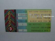 NEIL YOUNG & CRAZY HORSE 1983 Ticket Stub NASSAU COLISEUM LONG ISLAND NY Rare