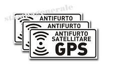 3 ADESIVI ANTIFURTO STICKERS SATELLITARE SPECCHIATI GPS PER AUTO CAMION CAMPER