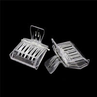 2Pcs Bee Tools Queen Cage Colorless Plastic Clip Bee Clip Beekeeping EquipmentME