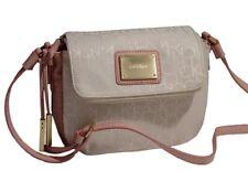 New Calvin Klein Logo Jacquard Pink White Ivory Crossbody Handbag Purse