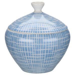 Zuckerdose Arzberg Form 2000 Bastdekor blau