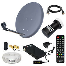 Camping Mobile HD SAT Anlage LNB Koaxialkabel Receiver HD kabel Satanlage 40cm