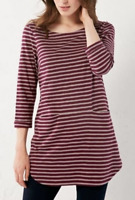 New White Stuff Stripe Me Jersey Tunic Top Pansy Purple Was £39.95 Now £19