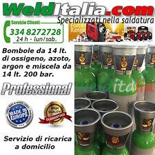 BOMBOLA RICAR. 14 LT. 200 BAR MISCELA ARGON/CO2 SALDATRICE FILO PROD. EUROPEA