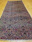 """Primitive Antique 1930-1940s Wool Pile Rose Color Runner Rug 2'7"""" x 7'6"""""""