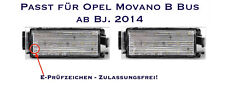 LED SMD Kennzeichenbeleuchtung Opel Movano B Bus ab Bj. 2014  (06)