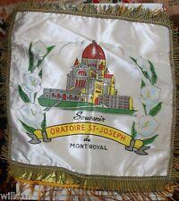 Shrine Oratoire St-Joseph du Mont Royal Satin Pillow Case Cover Mid 1900's