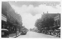 Brookville Indiana~Main St Florscheim Shoes~Car Garage~Repair Shop? 1940s B&W PC