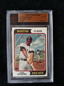 1974 TOPPS VAULT CECIL COOPER FILE COPY!! 1/1!!!!!!!