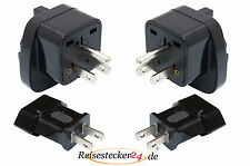 SET 4x Reisestecker Adapter Thailand Panama Philippinen Japan 2 Typ B + 2 Typ A