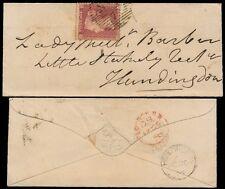 PENNY ROSSO SU BUSTA IN MINIATURA 1858 St Johns legno Le Regine Terrazza a Huntingdon