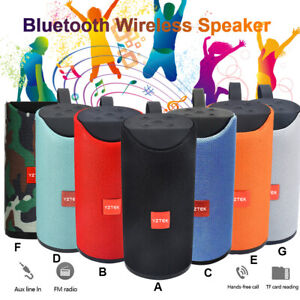 10W Bluetooth Speaker Water Resistant Stereo Bass USB/TF/FM  USA SHIPPING
