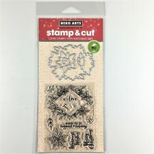 Hero Arts Decorative Poinsettia Frame Stamp & Cut Christmas Clear Stamp Die Set