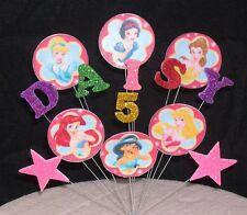 DISNEY Principessa Compleanno Cake Topper personalizzato con qualsiasi età + nome