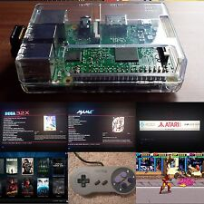 Raspberry Pi RETRO GAME CONSOLE WITH GAME ROMS and CONTROLLER & MOVIES