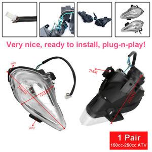 Headlamp White Motorcycle Universal Head Light For 150-250cc ATV Quad Dirt Bike