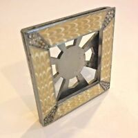 JAY STRONGWATER Pale Yellow Enamel Picture Frame Swarovski Crystal Square