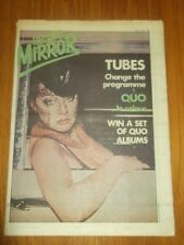 RECORD MIRROR MAY 12 1979 TUBES STATUS QUO THE JAM SQUEEZE BLONDIE STEEL PULSE