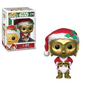 """STAR WARS SANTA C-3PO 3.75"""" VINYL POP FIGURE FUNKO 276 CHRISTMAS"""