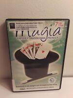 Magia: Juegos Y Trucos Para Aprender (DVD, 2008, Yoyo Libros) Ex-Library
