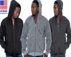 Men's Comfort Athletic Warm Soft Fleece Zip Up Sweater Jacket Hoodie Brand New