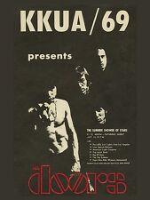 "The Doors KKUA 1969 16"" x 12"" Photo Repro Concert Poster"
