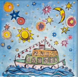 Porzellan / Kachel / quadratisch / Das kleine Traumschiff / Stefanie  Steinmayer