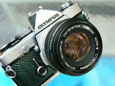 OLYMPUS OM-1N CAMERA W/50MM F1.8 LENS *35MM SLR CAMERA MANUAL *TESTED *EXCELLENT
