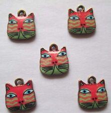 Hot sell ! 4PCS cat Pendant beaded Jewelry DIY Findings 17x17mm #8096