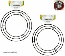 "(4) 8 inch Metal Wire Wreath Frame 8"" Door Wreath Ring Supplies Decorative Arts"