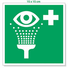 Aufkleber Augenspüleinrichtung 15x15cm, Zeichen Augendusche / Augenspülung / Not