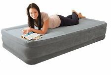 Comfort plush single bed- Intex 67766 - mid height bed with electric pump - New