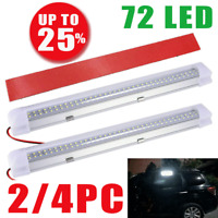12V Car Van Interior Lights Strip Bar 72 LED Bus Caravan ON/OFF Switch 12 VOLT