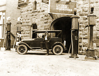 """1920's Huron Motor Sales, Goderich, Canada Vintage/ Old Photo 8.5"""" x 11"""" Reprint"""