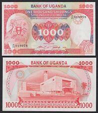 Uganda  1000 Shillings  1986  Pick 26  SC = UNC