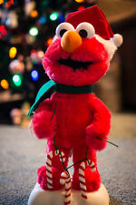 Elmo Animated Christmas Display Figure Candy Canes Working Battery Operated