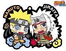 Megahouse Rubber Mascot Buddy Colle Shippuden Naruto & Jiraiya Student Keychain