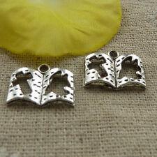 free ship 1000 pcs tibetan silver book charms 18x14mm #4103